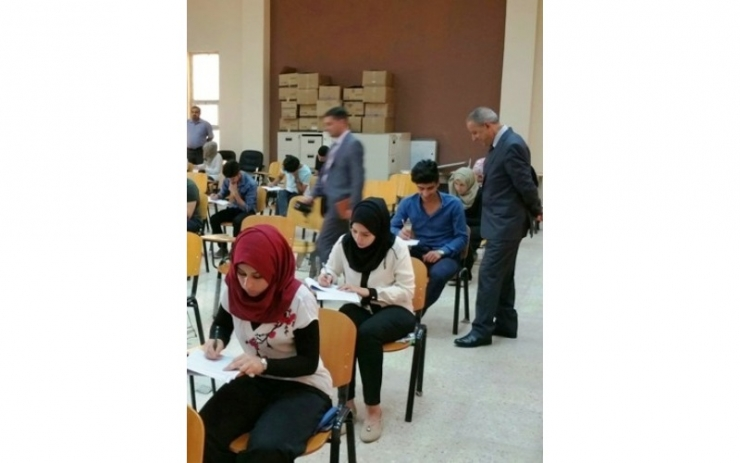 The President of the University inspects the conduct of the final examinations of the second semester